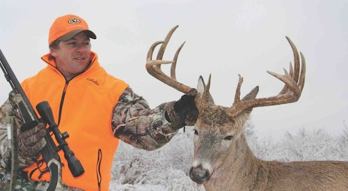 The author took this Missouri buck early in the morning as it was slipping back into a thick stand of bedding cover. The nearest food source was nearly a half-mile away.