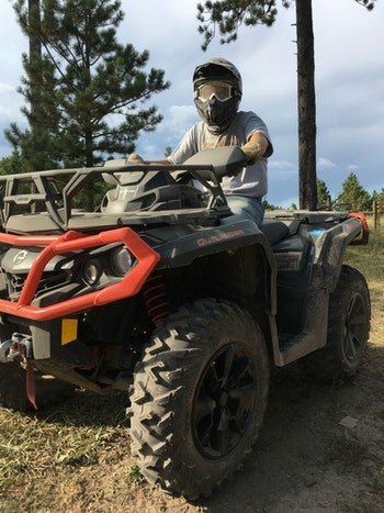 The author jumped aboard a Can-Am Outlander 650 XT for a couple hours to close out his full day of off-road riding.