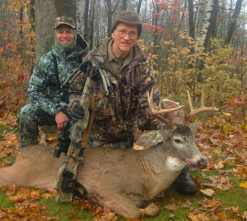 This Wisconsin whitetail won't make any record book, but for the father and son, the hunt memory will last a lifetime.