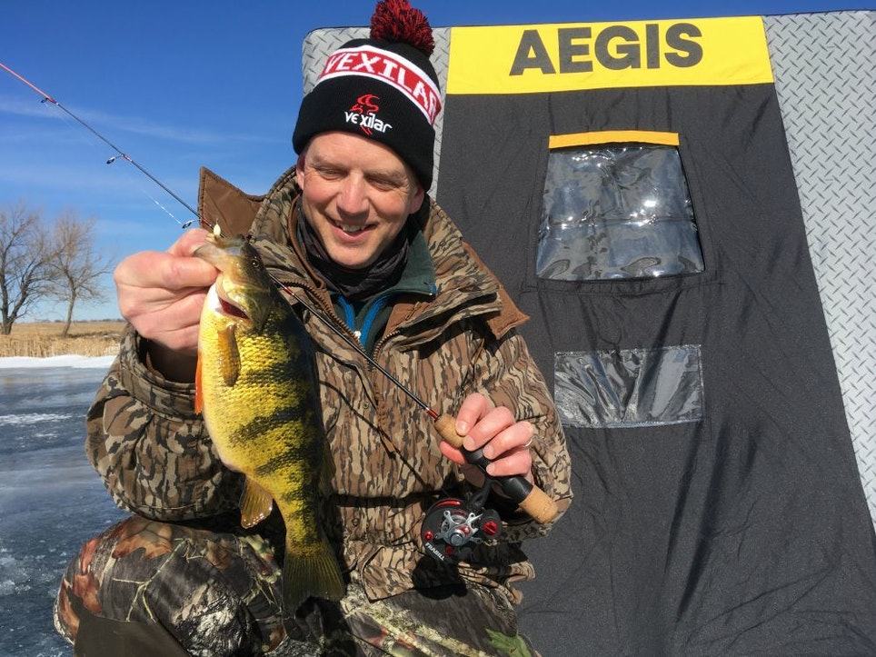 Big perch are fun to catch regardless of method, and the author discovered that he can hook into more of them by keenly observing their behavior around lures via an underwater camera.