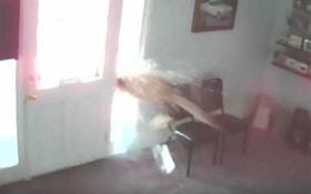 VIDEO: Deer Bursts Through Shop Window