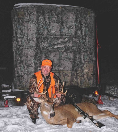 A mature buck from Iowa taken over a small hidey-hole plot.