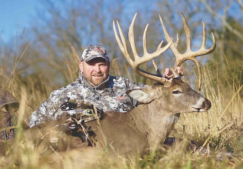 "During 2018 Donnie Monroe was able to harvest ""Pinhead,"" a 200-inch Kansas whitetail he had a history with for three years."