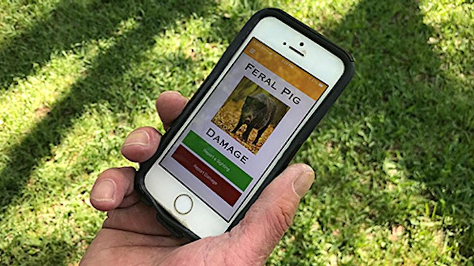 Mississippi State Smartphone App for Feral Pig Damage
