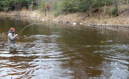 Not a fan of big water? No problem. The Brule River in Wisconsin, which is an easy drive from Duluth, Minnesota, is a favorite destination for fly anglers in search of trout and salmon.