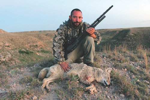 Freelance writer and firearms instructor Frank Melloni, who shared camp with the author, made a running shot on this Texas coyote with help of an EOTech holographic sight.