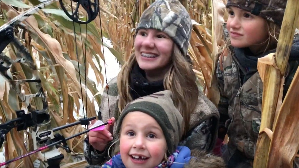 Video: 13-Year-Old Girl Arrows Her First Buck During October Blizzard