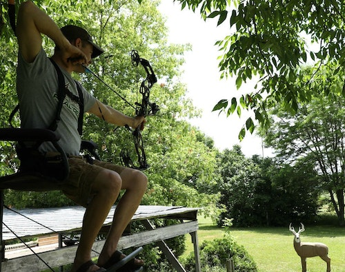 A bowhunter who practices on a lifelike 3-D target such as the GlenDel Full Rut Buck, which has antlers that simulate a 150-class whitetail, are training their mind and body for when the real thing is in front of them.