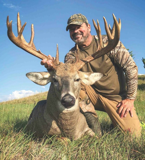 Greg Gilman patterned this buck throughout the summer and set up for opening-day success in 2018.