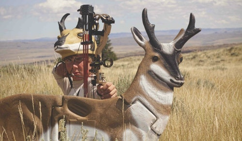 Concrete-hard ground that obstructs stakes, grassland gusts and the art of hiding behind a small pronghorn decoy is challenging. But the reward can be a buck at point-blank range.