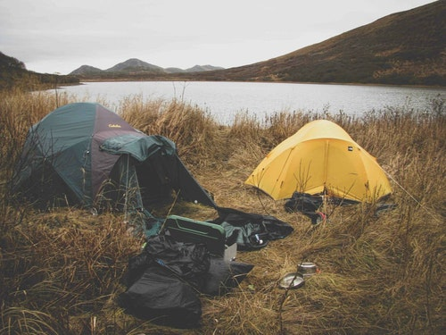 Half of an Alaskan deer hunt is often spent inside a tent. You need snack food, a warm sleeping bag and a good book to read.