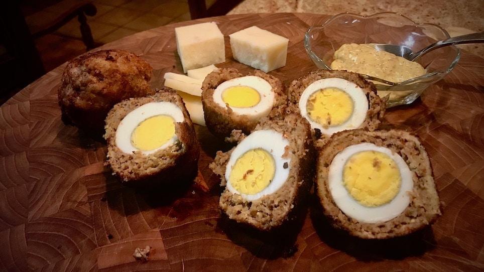 Recipe: Homemade Scotch Eggs With Venison Sausage