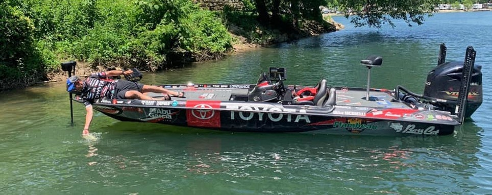 Mike Iaconelli Facebook pic/post: Take a close look at this picture. Can you spot the new piece of equipment on my boat that will change the bass fishing game forever? Coming mid July!