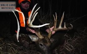 Self-Filmed Video: Monster Late-Season Muzzleloader Buck in Iowa