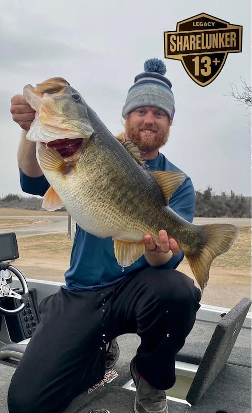 FB post from Feb. 28, 2021: Another Sunday another new personal best for angler Josh Jones. He has followed up his submission last week of SL591 with today's 15.40lbs SL596 from O.H.Ivie! That makes 6 this season from Ivie matching the 6 turned in from Ivie in 2011. Will Ivie produce 12 like it did in 2010?