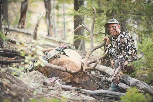 Justin Davis with a Colorado public land bull.