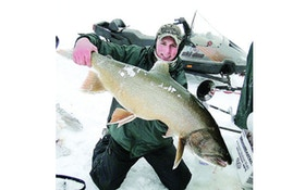Find and catch lake trout under ice