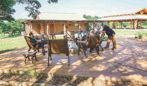 Accommodations are topnotch at the Lazy CK Ranch in Mountain Home, Texas.