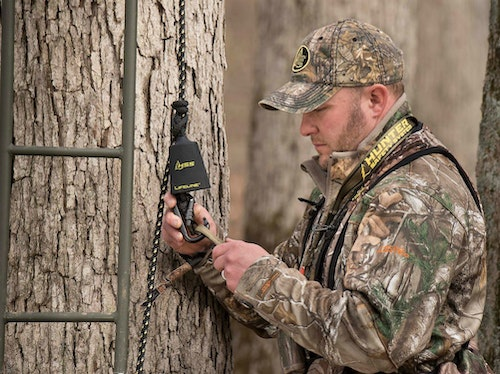 With a Hunter Safety System Lifeline and full-body harness, deer hunters can stay safe from the moment their feet leave the forest floor.