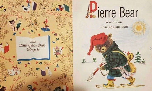 """First published in 1954, the book """"Pierre Bear"""" was part of the Little Golden Book series."""