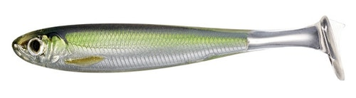LiveTarget Slow-Roll Shiner in silver/green.