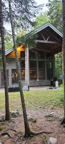 Home away from home for the week.  Not your ordinary trapping cabin.