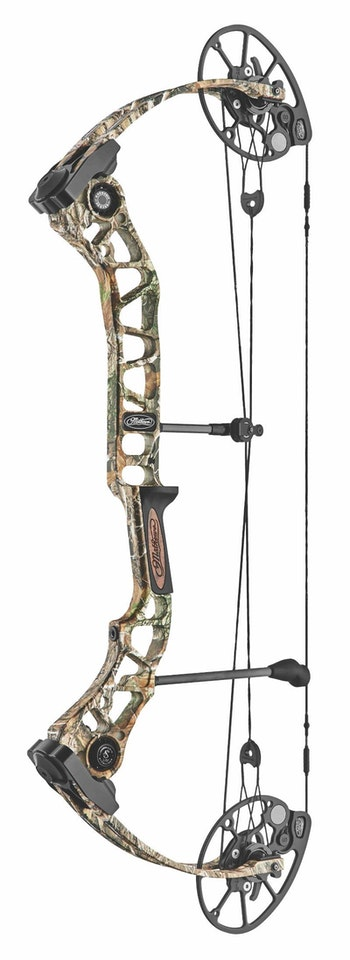 New-for-2019 Mathews Tactic in Realtree Edge camo.