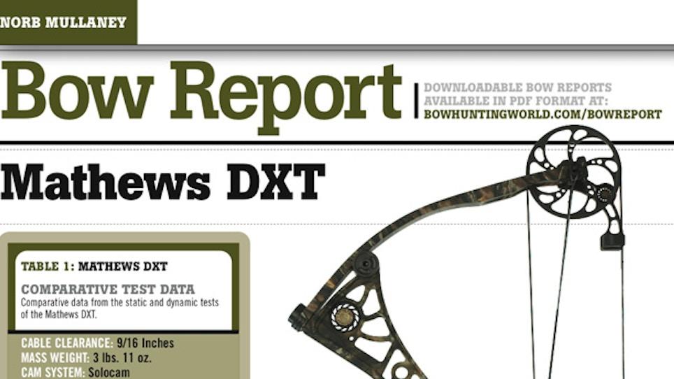 Bow Report: Mathews DXT