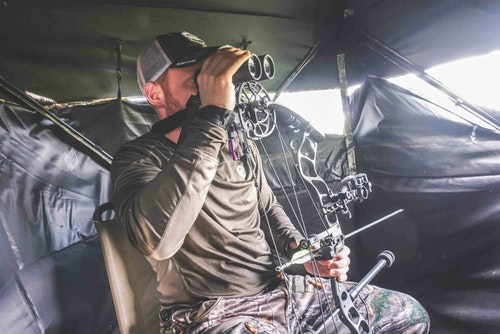 Most hunting at Lazy CK Ranch is done from pre-placed ground blinds and treestands, but the option to hunt via spot and stalk is there for bowhunters seeking a more active method.