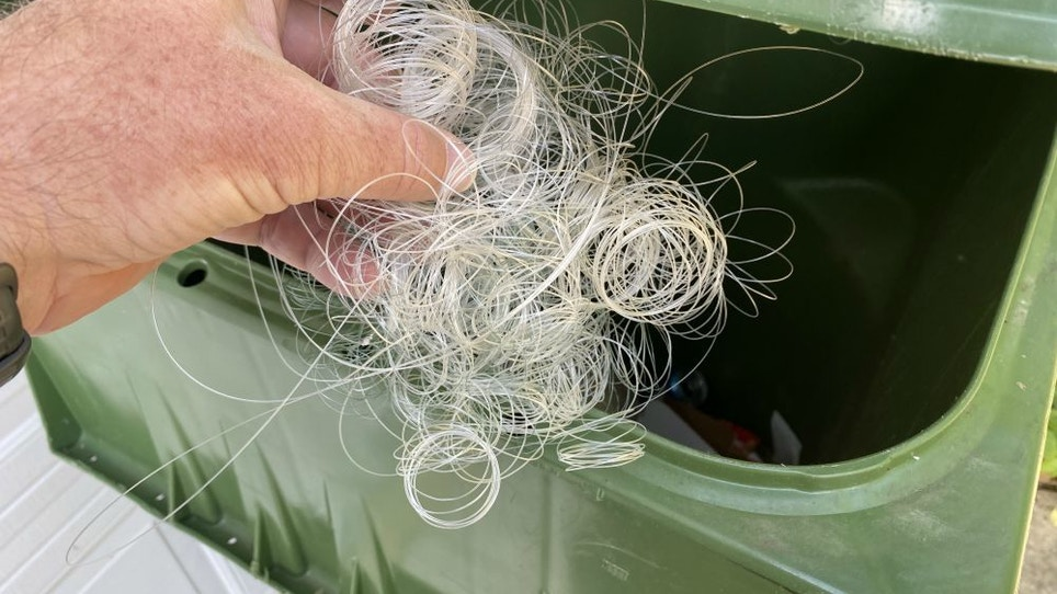How to Discard Used Fishing Line