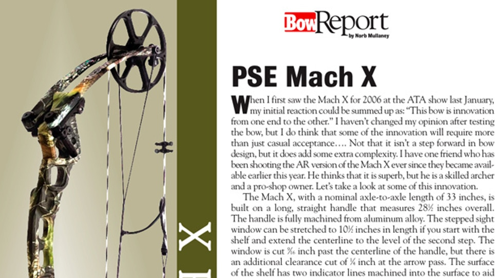 Bow Report: PSE Mach X