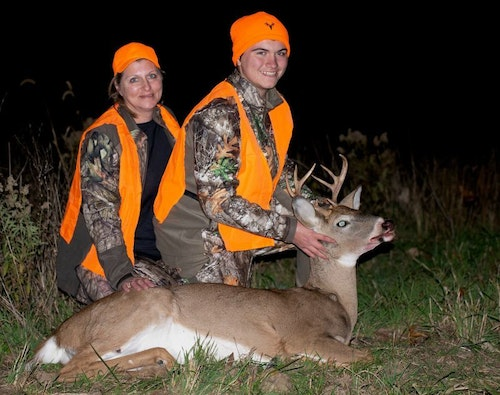 This whitetail buck, as well as the antlerless deer shown at the top of the page, were tagged during the 2018-2019 Missouri deer season.