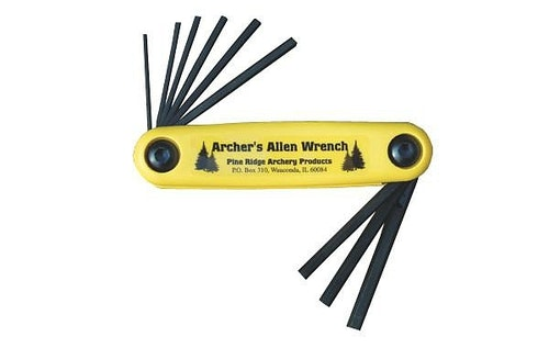 Several companies offer Allen wrench tools that work well for adjusting bowsights. The author uses one from Pine Ridge Archery.