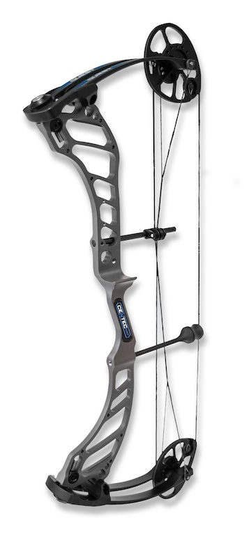 Quest Centec NXT with black limbs and Recon Gray riser.