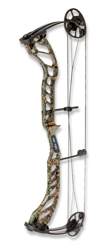 Quest Centec with Realtree Edge riser and black limbs.