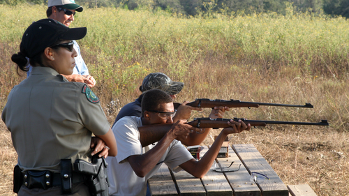 Most hunter education firearm safety field days incorporate the .22 rifle, which is a great way to establish a bond with young or new shooters. Photo: Michael Faw