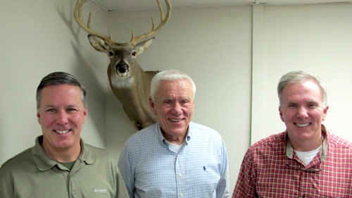 Ron Woller, John Woller Sr. and John Woller Jr. created Viking Solutions in 2015 to create more helpful products for hunters. (Photo: Alan Clemons)