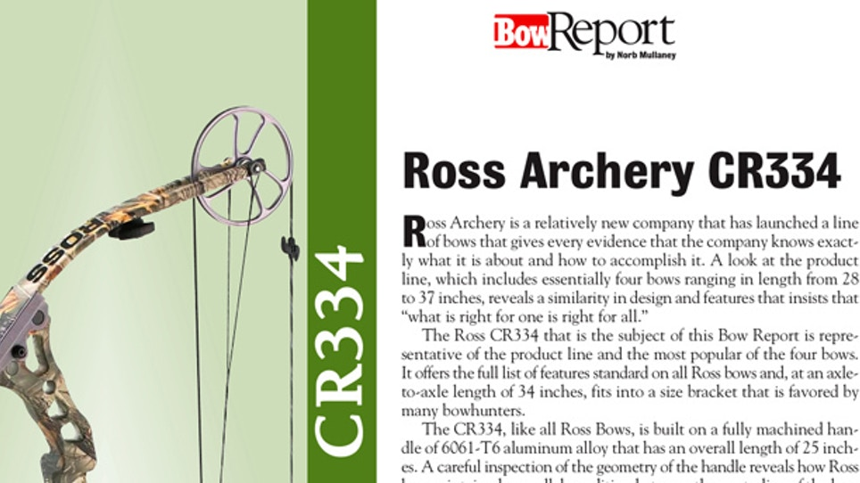 Bow Report: Ross Archery CR334