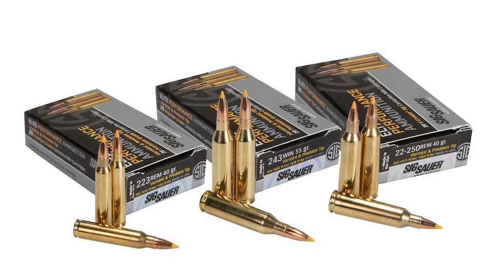 SIG SAUER introduces new varmint, predator Elite Performance Ammunition