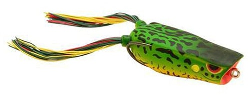 The SPRO Bronzeye Pop 60 is one of the author's favorite hollow-bodied frogs. The concave face pushes water when the frog is twitched, causing enough commotion to attract nearby bass.