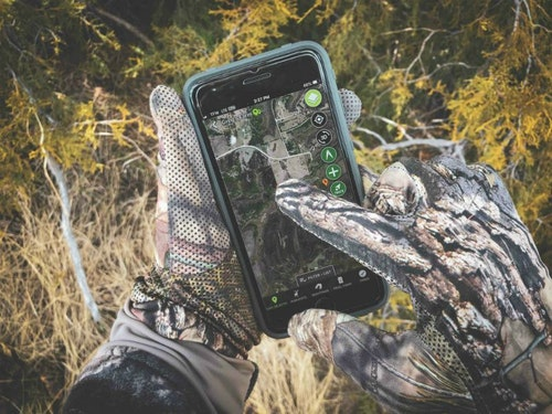 Use a hunting app, like the HuntStand app, to peer down from above in search of an area that a lockdown pair may use to socially separate on your hunting property.