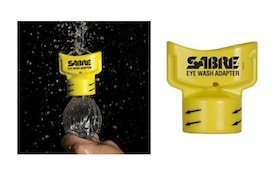 SABRE Eye Wash Adapter Turns Water Bottles Into Eye Wash Device