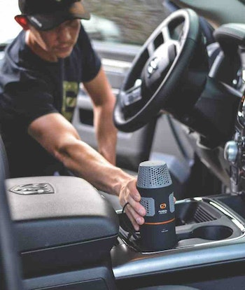 To combat odors in your vehicle, run a portable ozone generator such as a ScentLok Radial Nano for an hour before driving to your hunting area.
