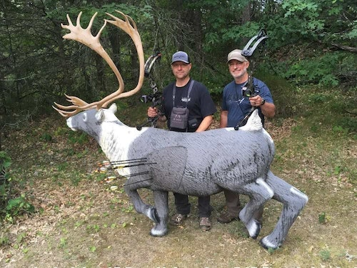 You might never have the chance to bowhunt caribou, but a 3-D course can provide just a taste of the experience. Range to this target was 58 yards.
