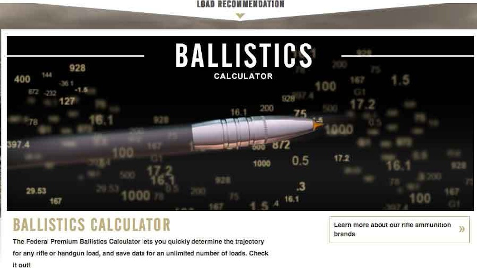Useful Ballistic Calculators For Rifle Shooters | Grand View Outdoors
