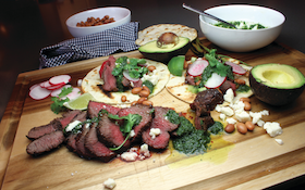 Grilled Venison Tacos With Cilantro Chimichurri