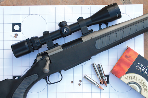 T/C includes a sub-MOA accuracy guarantee with the Venture Weather Shield that the sample gun easily achieved. Photo: Scott Mayer