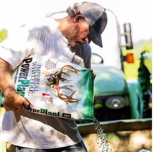 Why do you suppose some hunters take such a liking to food plots? What a fine, physical reality involving a to-do list with tasks like gathering soil samples, discing, planting, bush-hogging, fertilizing, growing stuff, growing stuff and growing stuff. Photo: Whitetail Institute (Instagram)