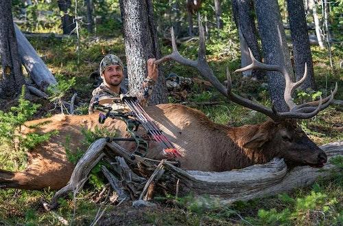 Sam Soholt with his 2018 public land Montana bull.