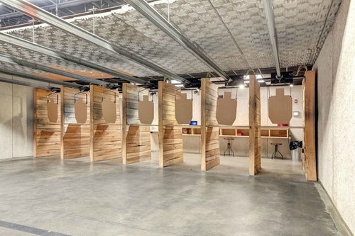 Stock & Barrel uses a digitally controlled target system on its range, and an air-filtration system exchanges air every 90 seconds. Each lane is 25 yards long.